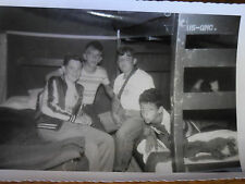 Vintage B&W Photograph Young Boys Summer Camp Bunk Beds 1950's