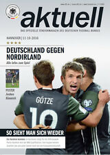 11.10.2016 Germany - Northern Ireland, Hannover including poster Joshua Kimmich