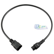 IEC 320 C14 Male to C5 female Converter adapter Extension Power Cable 60CM Black