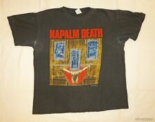 NAPALM DEATH Vintage T Shirt 90's Tour Concert 1991 By Manipulation METAL THRASH