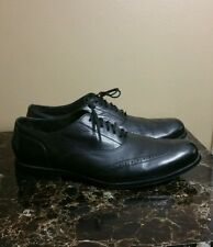 Cole Haan Nike Air Men's Dress Wing Tip Shoes Black Leather Size 11.5 M EXC!