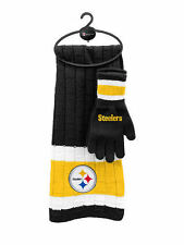Pittsburgh Steelers Scarf & Glove Gift Set [NEW] NFL Hat Winter Cold Scarve