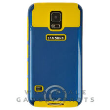Samsung Galaxy S5 Hybrid 2 Tone Case Navy Blue/Yellow Cover Shell Protector Case