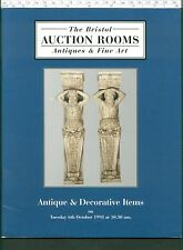 BRISTOL AUCTION ROOMS sale catalogue: Antiques and Decorative Items Oct 1998