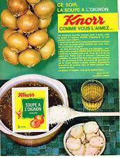 PUBLICITE  1967   KNORR  soupe à l'oignon