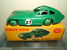 DINKY TOYS MODEL No.163 BRISTOL 450 SPORTS COUPE     VN MIB