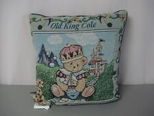 """USA Made NWOT Old King Cole Hillman 17"""" x 17"""" Tapestry Throw Pillow #188"""