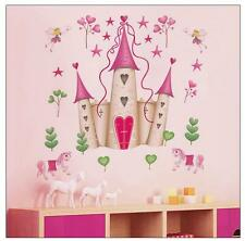 princess Castle Kids girls' bed room decor Wall sticker wall decals mural pvc