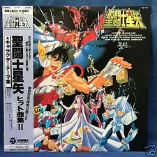 "Saint Seiya Japan Vinyl LP 12""Record Anime Original Soundtrack II Obi Liner Note"