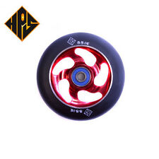 2X PRO STUNT SCOOTER LIGHTNING RED METAL CORE WHEELS 100mm 88a ABEC 9 BEARING