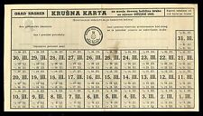 CROATIA (NDH) WWII - COUPONS FOR BREAD FOR MONTH MARCH OF 1945. FOR CITY ZAGREB.