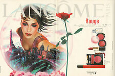 Publicité Advertising 1996  (Double page)  Maquillage LANCOME rouge vernis