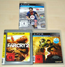 3 PLAYSTATION 3 giochi ps3 raccolta FIFA 13 Far Cry 2 Resident Evil 5 GOLD