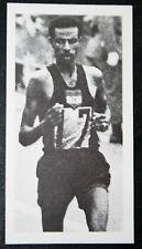 Bikila ETIOPIA MARATONA RUNNER FOTO CARD # in buonissima condizione
