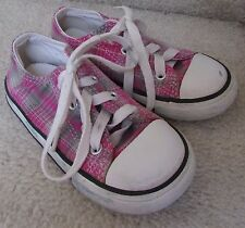 Converse All Star Infant Baby Sneakers Pink Plaid Size 8 Style 717720F