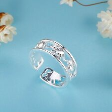 Adjustable Male Female 925 Silver Ring New - Elephants Ring Jewelry XMPJ268