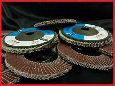 10 X 100MM 4 INCH 40 GRIT FLAP DISCS WHEELS ANGLE GRINDER GRINDING METAL SANDING