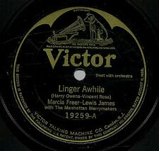 Frank Crumit / Virginians / Marcia Freer / Lewis James 78 RPM - Victor - HEAR