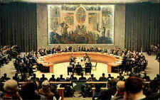 New York USA Color AK 1960 United Nations Headquarter Security Council Chamber