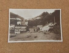Cloveley Harbour Sepia tone Tucks Postcard Real photograph unposted .  XC1