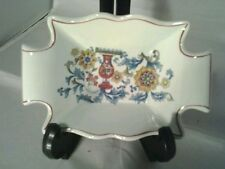 VINTAGE ADAMS CALYX WARE SCALLOPED EDGE TRINKET DISH  VGC