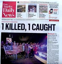 Boston Marathon Bombings Newspaper Los Angeles Daily News 4/21/2013 Terrorists