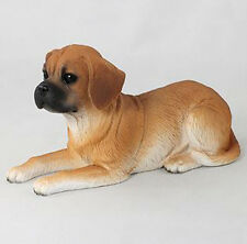 Puggle Dog Figurine Statue Hand Painted Resin Gift Pet Lovers