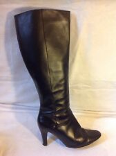 Hobbs Black Knee High Leather Boots Size 37