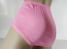 Baby Pink Cotton Sports Netball Gym Panties Knickers Briefs  UK M 12/14