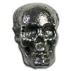 3.5 oz Silver Bar - 3D Skull - SKU #92302