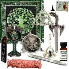 Dragon Altar Kit | Draconic Wiccan Altar Kit | 11 Pieces, altar tools, athame