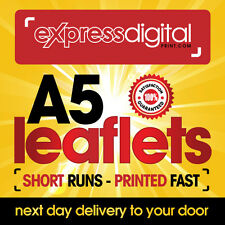 250 x A5 Colour Flyers Leaflets single sided 130gsm Printing Service - FREE P+P
