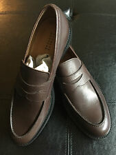 NIB $350 Barneys New York Pebble Grain Loafers - Size 10 Brown - Made in It