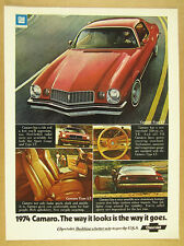 1974 chevrolet Chevy Camaro Type LT red car 5x photo vintage print Ad