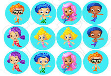 all characters Bubble Guppies Edible image Cake topper decoration  -12x2.5""