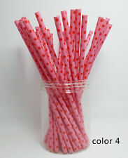 25 Paper Drinking Straws Festival Patterns Straw Halloween Christmas Color 4