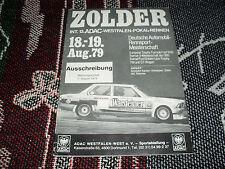 1979 ZOLDER RULES & REGULATIONS BOOKLET - 19/8/79 - F3 GT FORMULA FORD