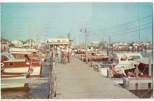 BEACH HAVEN Yacht Club NEW JERSEY Fleet Of Party Fishing Boats PM 1957 Postcard