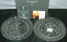 Waterford Crystal Pair of WS CELTIC ACCENT Salad Plates New in Box 107858