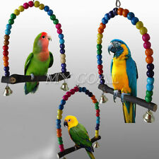 Colorful Swing Bird Parrot Cage Toys Parakeet Lovebird Budgie Conure Perches