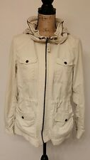 Eddie Bauer Travel Lightweight Khaki Travex Jacket Women's Medium Hooded (B1)