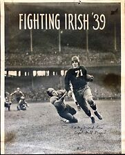 NOTRE DAME FIGHTING IRISH FOOTBALL AUTOGRAPH MILT PIEPUL PHOTOGRAPH NFL DETROIT