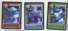 2011 SDCC COMIC CON EXCLUSIVE TOPPS STAR CLONE WARS PROMO CARD SET OF 3 YODA OBI