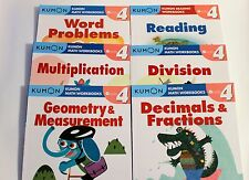 KUMON Workbooks Grade 4 Set: Math + Reading  (6 books) --FREE Expedited Shipping