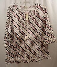 Women's Lucky Brand Plus Size 3/4 Sleeve  Shirt  1X NWT