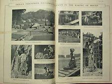 1916 TIMES of INDIA ~ INDIAN INDUSTRIES MAKING OF BRICKS MOULDING KILN DIGGING