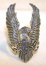 AMERICAN BIKER EAGLE WINGS UP  RING BRA5 silver jewelry bikers eagles item new