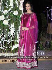 Bollywood Designer Suit-Purple Latest Trending Party Wear Suit Un-Stitched Dress