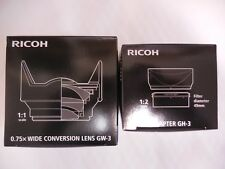 RICOH GW-3 Wide Angle Conversion Lens & GH-3 (hood & adapter ) set from Japan