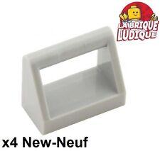 Lego - 4x Tile Modified 1x2 dossier poignée handle gris/light b gray 2432 NEUF